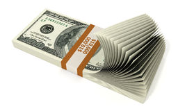 Stack of 10000 Dollars. Isolated on white stock illustration