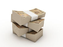 Stack of 10000 yen bills Royalty Free Stock Images