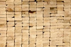 Stack of 2 by 4s. Stack of wood boards Stock Photography