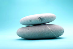 Stack of 2 rocks. 2 natue rock stack together Stock Photography