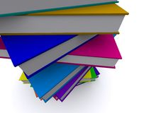 Stack of 3d books. 3d render of a stack of nice books Stock Photos