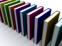 Stack of 3d books stock photo