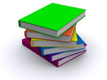 Stack of 3d books. 3d books, a messy stack of them Royalty Free Stock Photo