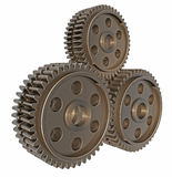 Stack of 3D Gears stock illustration