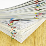 Stack of account include sales and receipt Royalty Free Stock Image