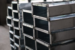Stack of Air Condition Ducting in Construction Site Stock Photography