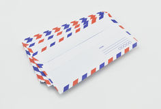 Stack of air mail envelopes on white Royalty Free Stock Photos