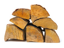 Stack of alder firewood stock photo