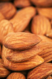 Stack of almonds Stock Photos