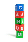 Stack of Alphabet Cubes Stock Photography