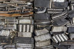 Stack of aluminum from car parts. Stock Photography