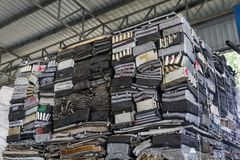 Stack of aluminum from car parts. Royalty Free Stock Photography