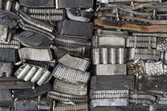 Stack of aluminum from car parts. Stock Image