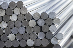 Stack of aluminum rounds. A stack of aluminum rounds stock photography