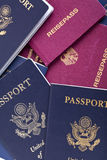 American & German Passports Background Royalty Free Stock Photography