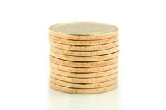Stack of American coins Stock Photography