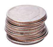 Isolated US Dime Stack Stock Images