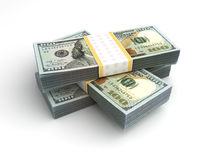 Stack of American Dollar Stock Image