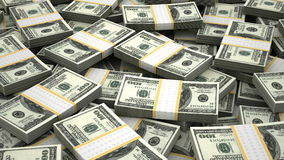 Stack of American Dollar stock footage