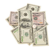 Stack of american dollars Royalty Free Stock Images