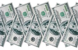 Stack of american dollars Stock Photos