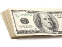 Stack of american dollars Royalty Free Stock Photos