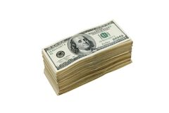 Stack of american dollars Royalty Free Stock Image