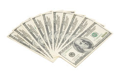 Stack american dollars Stock Photography