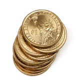 Stack of American One Dollar Coins Stock Image