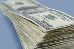 Stack of American paper money. Stock Images