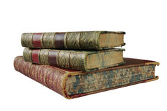 Stack of antique books royalty free stock photography