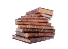Stack Antique Books Stock Photo