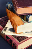 Stack of antique books Royalty Free Stock Photo