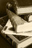 Stack of antique books Royalty Free Stock Images