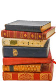 A stack of antique books Royalty Free Stock Photo