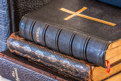 Stack of Antique Hymnals Stock Image