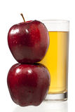 Stack of apples and juice Royalty Free Stock Image