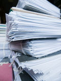 Stack of archive files Stock Photos
