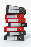 Stack of archive folders Royalty Free Stock Image