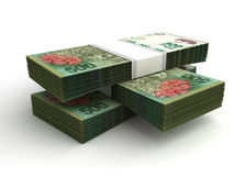 Stack of Argentina Pesos Royalty Free Stock Images