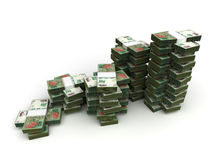 Stack of Argentina Pesos Stock Image