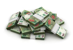Stack of Argentina Pesos Royalty Free Stock Image