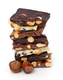 Stack of assorted chocolate Royalty Free Stock Image