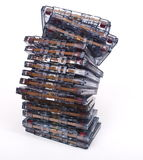Stack audio cassettes Royalty Free Stock Image