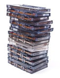 Stack audio cassettes Royalty Free Stock Images