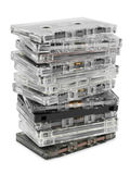 Stack of audio cassettes Royalty Free Stock Photography