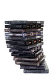 Stack audio cassettes Stock Images