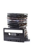 Stack audio cassettes Stock Photo