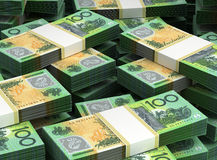 Stack of Australian Dollar Royalty Free Stock Photos