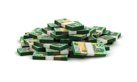 Stack of Australian Dollar Stock Photo